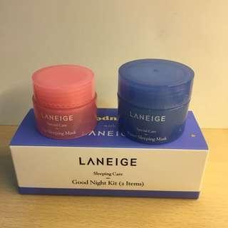 Laneige Lip and Water Sleeping Mask sample set