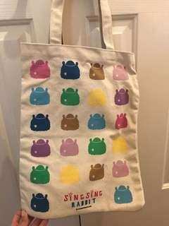Sing Sing Rabbit Tote Bag