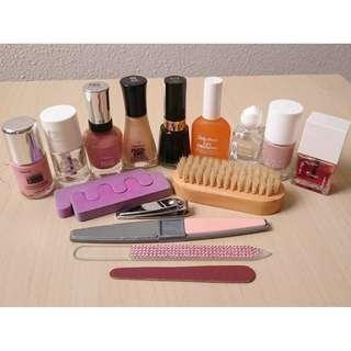 Assorted nail care products - manicure pedicure