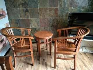 Solid Teak wood chairs and Table