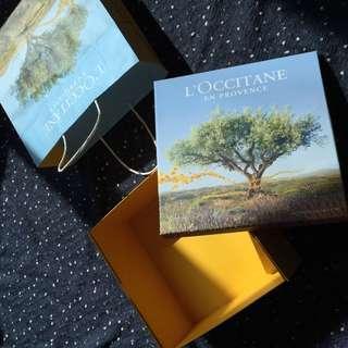 Loccitane gift box and paper box