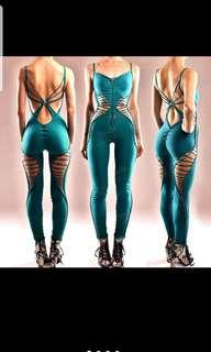 Open Back Form-fitting Doof Cutout Catsuit
