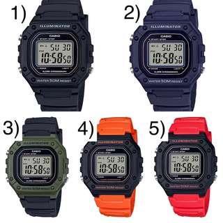 Bn Casio Digital Watch W-218H
