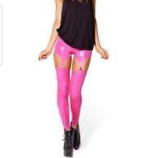 BlackMilk Pink Snakeskin Suspenders