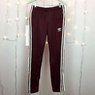 Adidas original maroon track pants