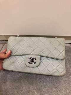 Chanel classic preloved blue soft