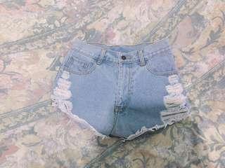 Highwaisted Ripped Shorts