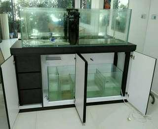 5ft Fish Tank with 6ft cabinet