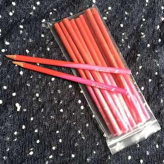 agnes b pencil 鉛筆 pink 11支(new)+2支(used)