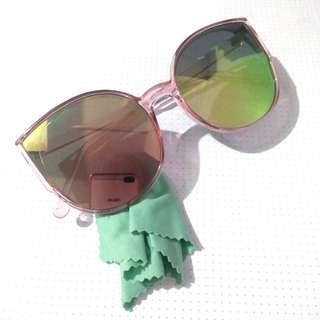 Pink iridescent sunglasses