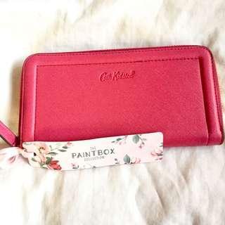 Plain pink cath kidston wallet