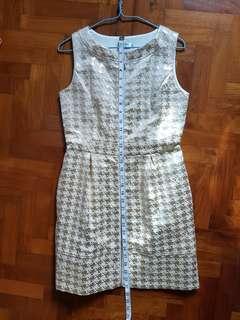 Light Gold front zip dress