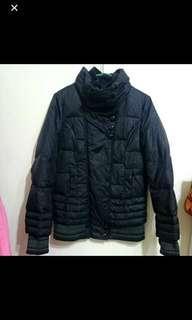 🚚 黑色豹紋羽絨外套