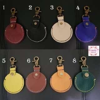 gogoro鑰匙皮套 真皮 荔枝皮 牛皮 手工縫製 磁扣 大門感應扣皮套 鑰匙圈
