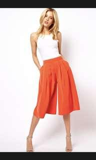 ASOS front pleated culotte