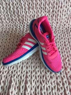 Adidas neo cloudfoam ultra footbed bright pink and blue