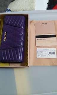 Miu miu wallet (authentic)