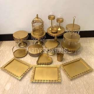 [RENT] Birthday Party Dessert Table Gold Cake Stand