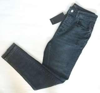 Zara Black Skinny Ripped Jeans