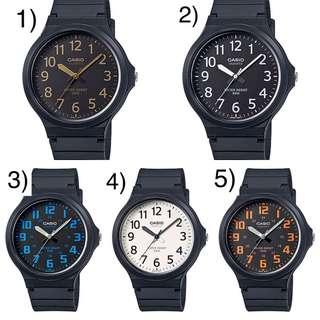 Bn Casio  Large Face Watch MW-240