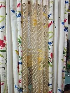 60x70 very thick textile curtains 3in1