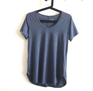 Cotton On BODY Light Blue Gym T Shirt Yoga Tee Active Top @sunwalker