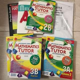 Secondary 1-4 casco Maths Assessment Books