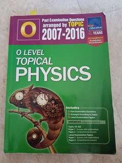 Olevel Topical Physics TYS 2007-2016