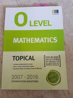 O Level Emath Topical TYS 2007-2016