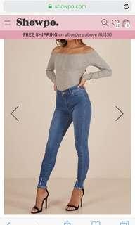 Showpo jeans size 10
