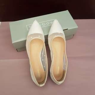 Bow Bow Pointed Shoes