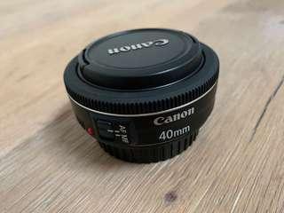 Canon 40mm F2.8 Pancake lens