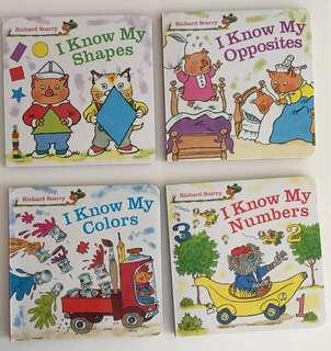 Set of 4 Richard Scarry Board books
