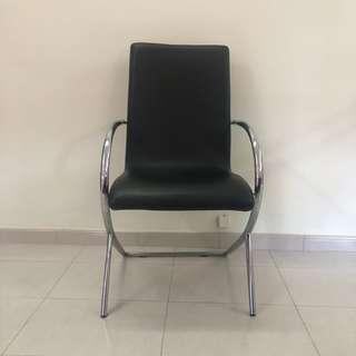 Black Color Dining Chair - Synthetic Leather