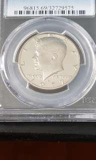 Kennedy Half Dollar Silver Coin Year 1968