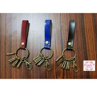 手工牛皮吊環鑰匙圈 復古簡約個性 真皮 古銅色 鑰匙環