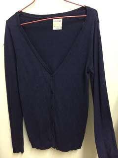 pull&bear blue black cardigan