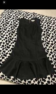Black pelpum dress