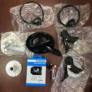 New: Shimano 105 R7000 11-speed groupset with hydraulic disc brakes