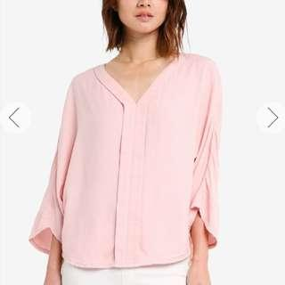 Zalora Blouse in Light Pink
