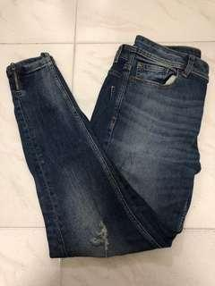 🚚 Zara skinny ripped jeans