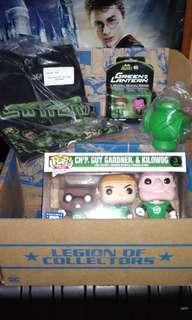 DC Super Heroes Green Lantern Legion of Collectors Box & Lanyard Funko Pop Bundle