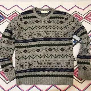 💕💜💕-Vintage 古著針針厚磅毛衣