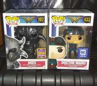 Ares & Doctor Maru Wonder Woman DC Super Heroes Funko Pop Bundle