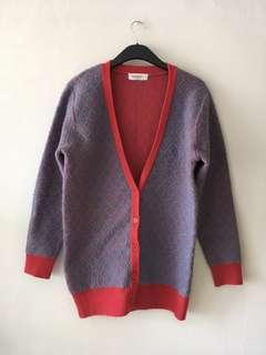🚚 韓貨 女款 長版針織外套 oversize 復古風 超保暖不透風