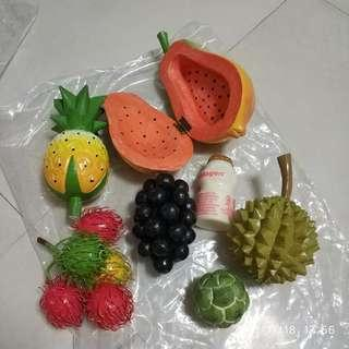 🚚 Wooden fruits set