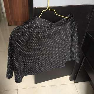 h&m black polkadot skirt