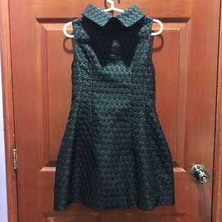 Black high neck couture dress