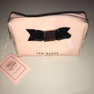 Brand new Authentic Ted baker pink waterproof cosmetics pouch