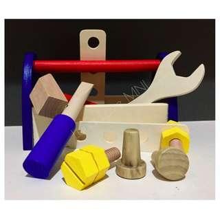 Wooden Toolbox Set